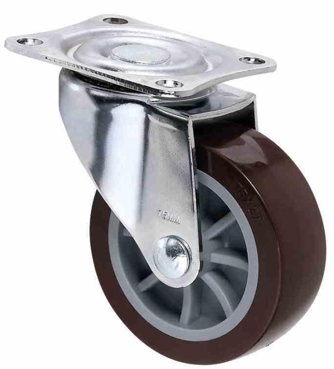 VEM1.5寸平底橡胶材质脚轮